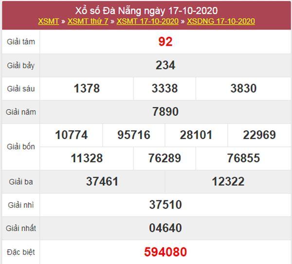 Soi cầu KQXS Đà Nẵng 21/10/2020 thứ 4 chính xác nhất