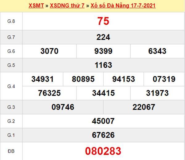 Soi cầu KQXS Đà Nẵng 21/7/2021 xin số đề XSDNG cùng cao thủ